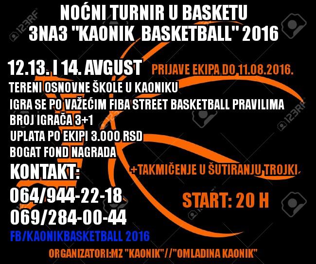 kaonik basket 2016